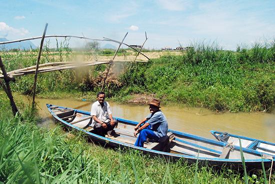 Bến Hục nay chỉ còn là con lạch nhỏ bên sông Thu Bồn do bị bồi lấp, nhưng trước kia là bến cập của ghe thuyền chở hàng cho thương hội Diên Phong. Ảnh: HUỲNH VĂN MỸ.