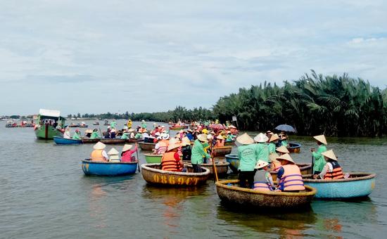 Cần trả lại sự yên tĩnh cho rừng dừa Cẩm Thanh. Ảnh: VINH THẮNG
