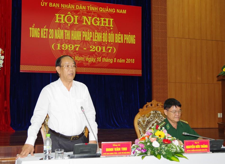 Chủ tịch UBND tỉnh Quảng Nam Đinh Văn Thu chủ trì hội nghị.