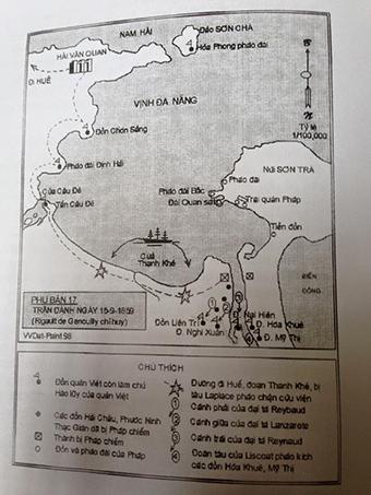 Hệ thống phòng thủ ở Đà Nẵng vào năm 1858 (theo Võ Văn Dật trong Lịch sử Đà Nẵng, Nxb Nam Việt, 2007).