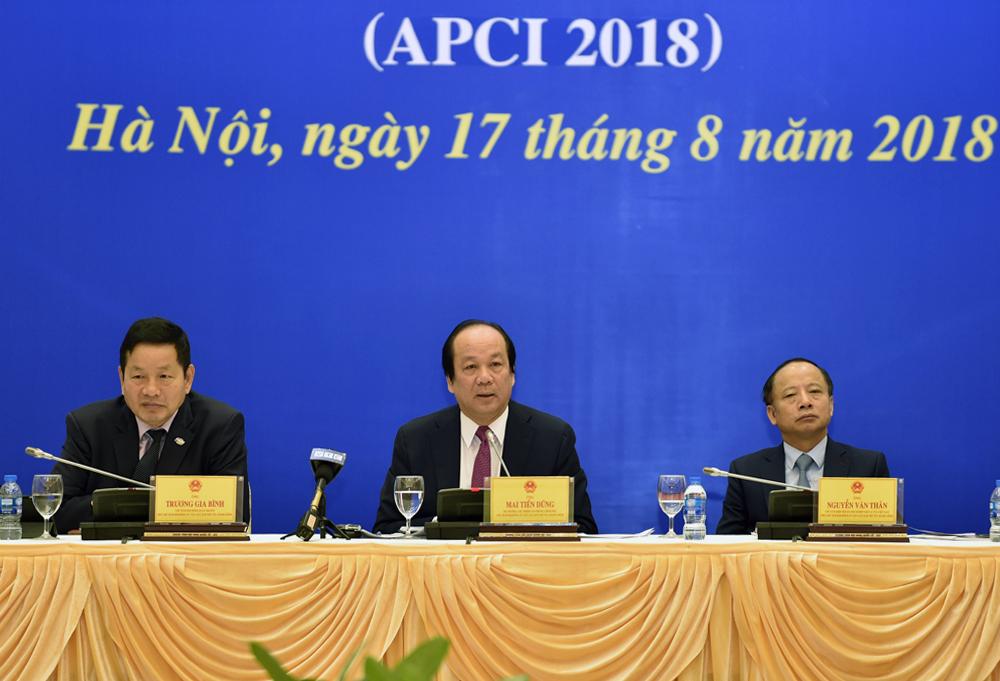 Bộ trưởng, Chủ nhiệm VPCP Mai Tiến Dũng tại buổi lễ công bố. - Ảnh: VGP/Nhật Bắc