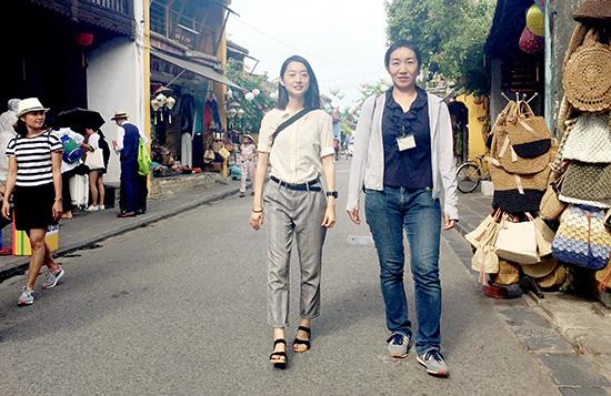 Sumika and Saki in Hoi An