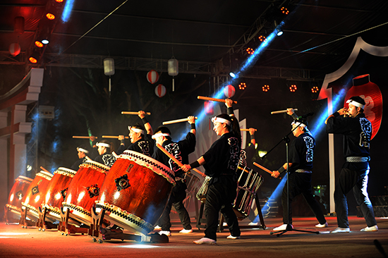 Japanese drum performance at the event