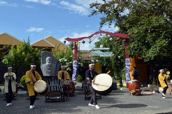Minori Daiko drum team (Japan) at the launching ceremony