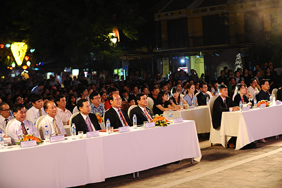 Quang Nam province's and Japanese leaders at the closing ceremony