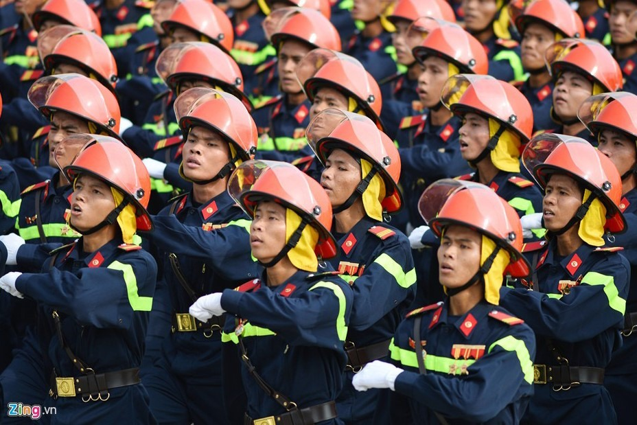 Công an địa phương tiến hành sáp nhập 20 Cảnh sát Phòng cháy chữa cháy vào Công an tỉnh, thành phố. Ảnh: P.V