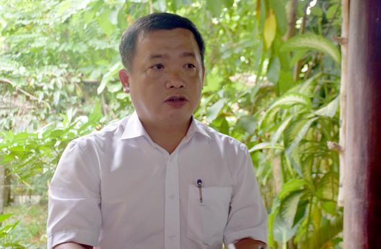 Ông Nguyễn Hùng Linh - Phó Chủ tịch UBND xã Cẩm Thanh mong muốn báo chí sẽ tiếp tục đồng hành với sự phát triển của địa phương trong thời gian đến. Ảnh: VINH THẮNG