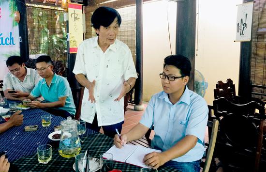Ngày 6.9, UBND xã Cẩm Thanh cam kết sẽ không còn tiếng loa nhạc trong khu vực rừng dừa. Ảnh: VINH THẮNG