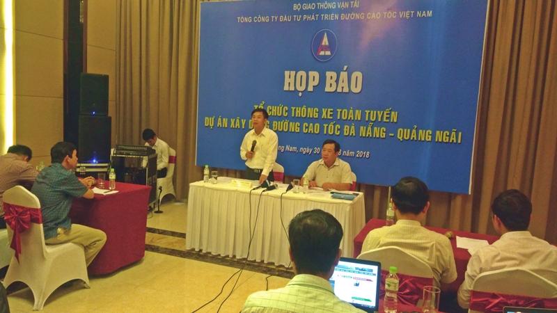 Theo chủ đầu tư VEC ngày 2.9 đến đây sẽ thông xe tuyến cao tốc Đà Nẵng - Quảng Ngãi. Ảnh: Đ. ĐẠO - C. TÚ