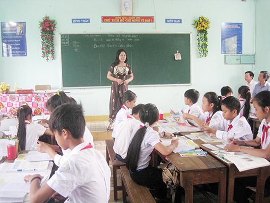 Thực hiện chủ trương của Trung ương, của tỉnh, huyện Núi Thành đã đề ra các bước cụ thể trong việc sáp nhập các trường học trên địa bàn.  Ảnh: VĂN PHIN