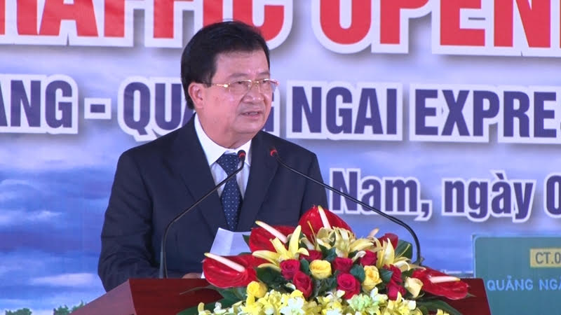 Deputy Prime Minister Dung gives his speech at the event.