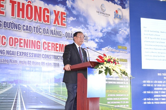 Chairman of Quang Nam provincial People's Committee Dinh Van Thu at the event