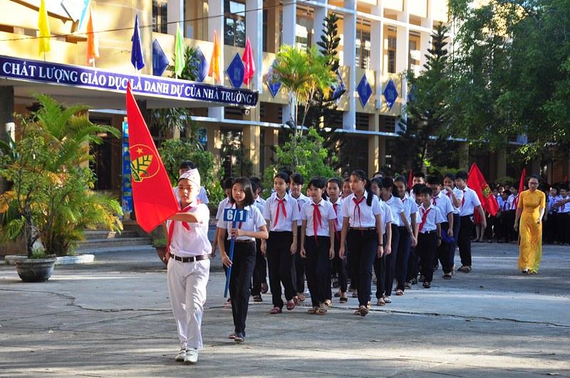 Năm học 2018 - 2019, Trường THCS Lý Tự Trọng chào đón 351 học sinh vào lớp 6. Ảnh: VINH ANH