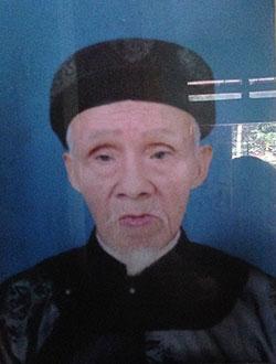 Chân dung cụ Ngô Duy Trí (1925 - 2015).