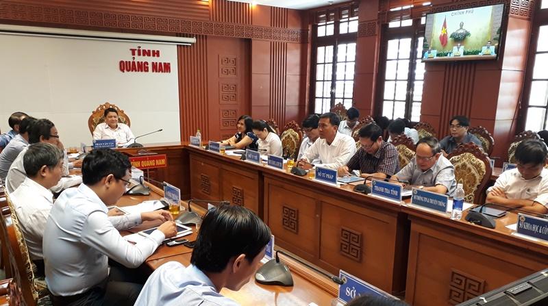 Quảng Nam tham gia hội nghị trực tuyến toàn quốc về nâng cao chất lượng giải quyết TTHC. Ảnh: M.L