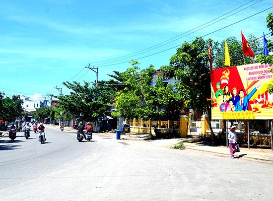 Thị trấn Hà lam là trung tâm của vùng trung huyện Thăng Bình. Ảnh: QUANG VIỆT