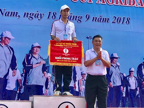 Trần Văn Hải Dương - Phòng GD-ĐT thị xã Điện Bàn về nhất cự li 2.000 nam khối các phòng GD-ĐT.