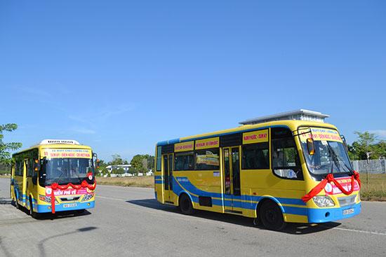 Tuyến xe buýt Tam Kỳ - Điện Ngọc được hành khách đánh giá cao. Ảnh: C.T