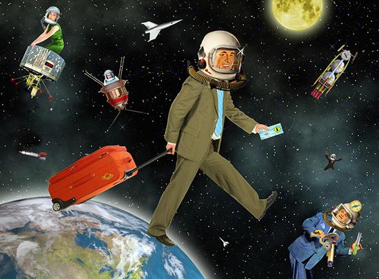 Ước mơ chinh phục vũ trụ của du khách sẽ không còn xa. Ảnh: NYTimes