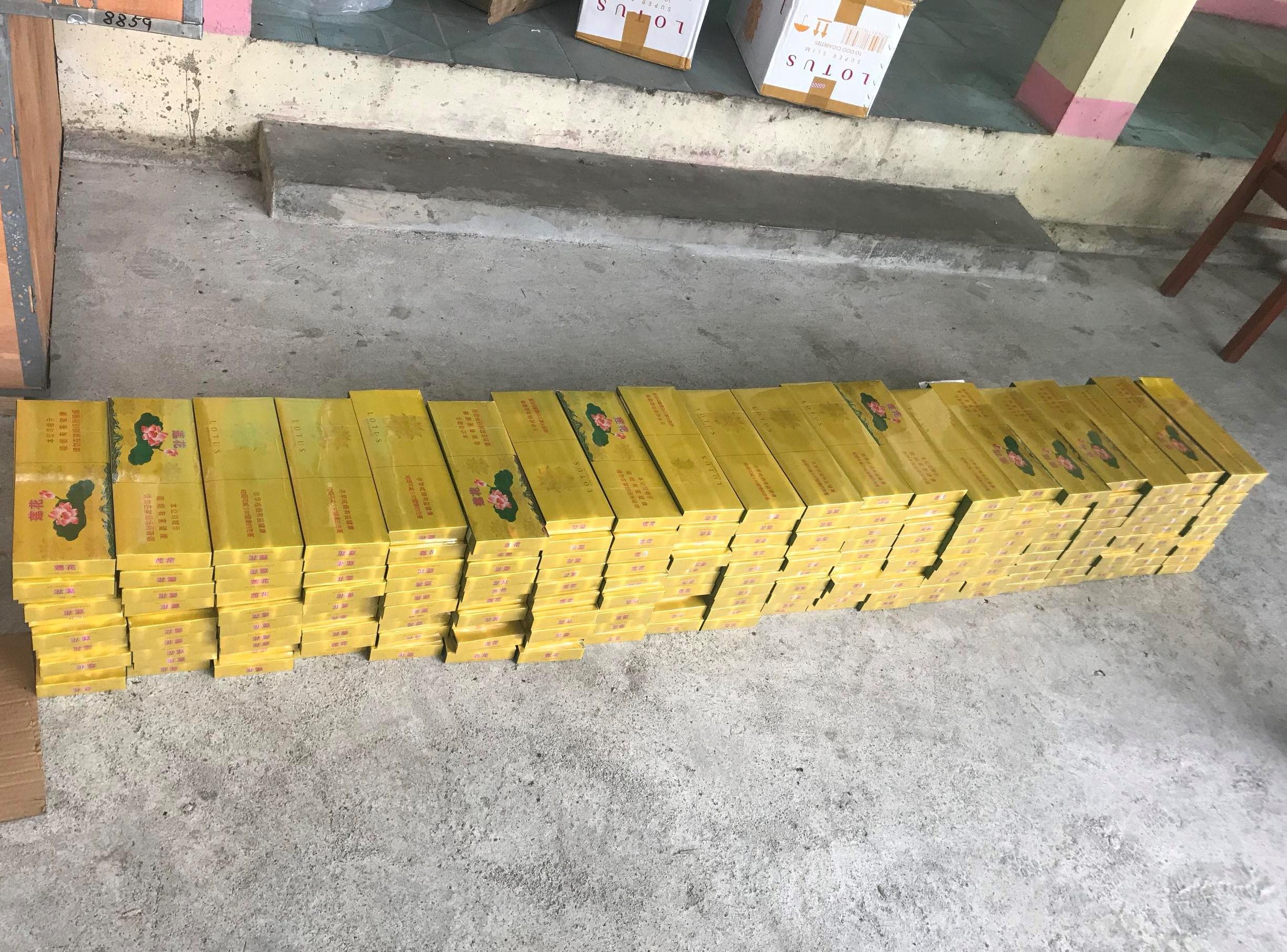 Số thuốc lá lậu bị thu giữ. Ảnh: QLTT cung cấp