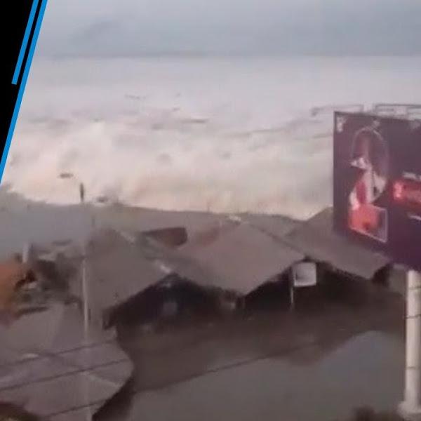 Hình ảnh về sóng thần hung dữ tấn công thành phố Palu, nơi chịu thiệt hại nặng nề nhất trên đảo Saluwesia, nơi có khoảng 400 người thiệt mạng, tính đến ngày 29,9. Ảnh: surfer