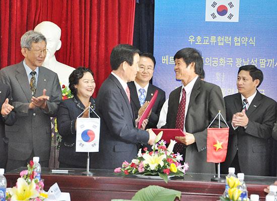 TP.Tam Kỳ và quận Dalseo hợp tác cách đây 8 năm đã mở đường cho nhiều doanh nghiệp Hàn Quốc đến Tam Kỳ. Ảnh: X.PHÚ
