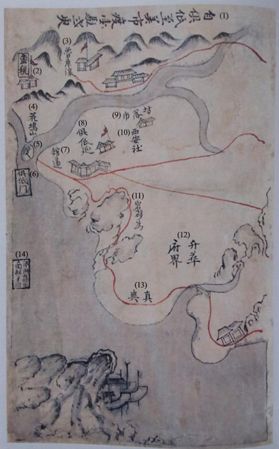 Trang bản đồ phần phía bắc Quảng Nam - Đà Nẵng.