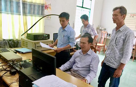 Quán triệt tư tưởng cho cán bộ và tính hiệu quả sau thay đổi được huyện Phú Ninh chú trọng. Ảnh: P.V