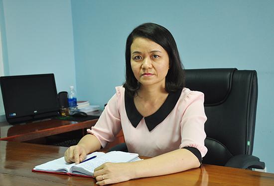 Ủy viên UBKT Tỉnh ủy, Trưởng phòng Kiểm tra IV Thái Thị Minh Phúc. Ảnh: N.Đ