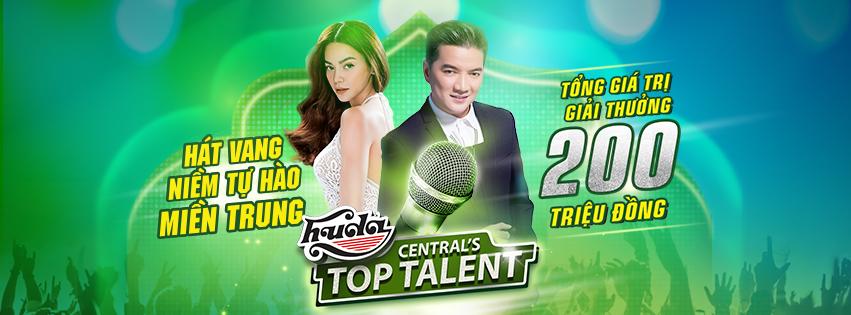 Huda Central's Top Talent với sự đồng hành của 2 HLV – ca sỹ Đàm Vĩnh Hưng và ca sỹ Hồ Ngọc Hà – cùng tổng giải thưởng trị giá 200 triệu đồng.