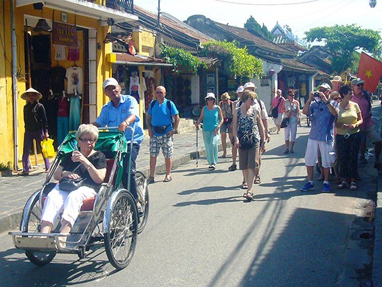 Foreign visitors in Hoi An ancient town