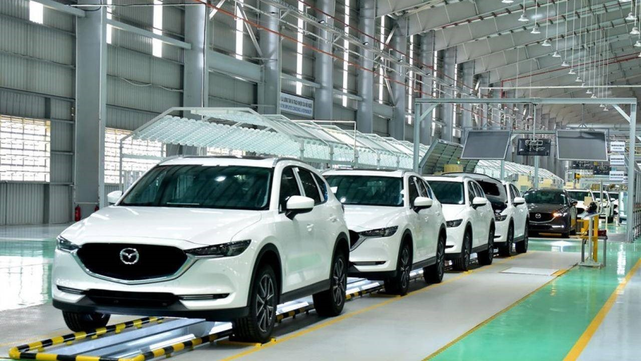 Quality inspection line in Thaco Mazda plant