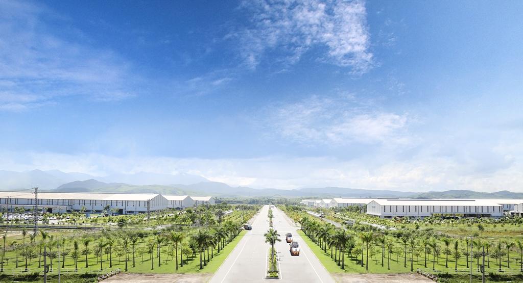 Nhà máy ô tô Chu Lai - Trường Hải trong Khu kinh tế mở Chu Lai. Ảnh: P.L