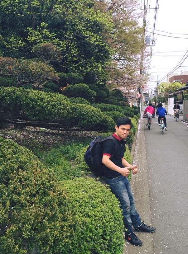 Một lao động Quảng Nam tại Nhật Bản. Ảnh: NVCC