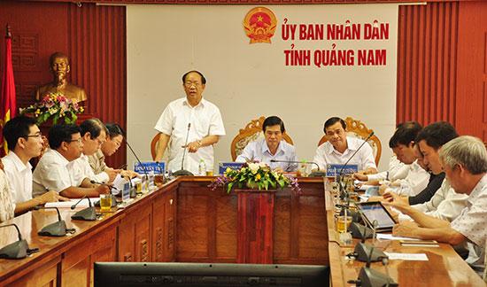Ngày 18.9,lãnh đạo tỉnh chủ trì hội nghị trực tuyến toàn tỉnh chỉ đạo các địa phương khẩn trương thực hiện các nội dung công việc thực hiện tổ chức sắp xếp lại thôn/khối phố theo kế hoạch. Ảnh: N.Đ