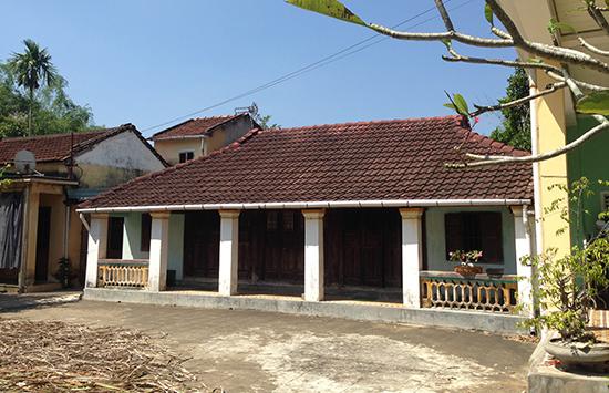 Nhà thờ tộc Lương ở Tam An nơi cụ ông 101 tuổi đang sống.