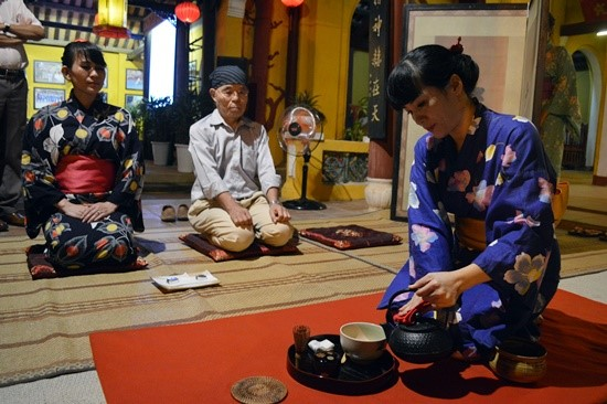 Japanese tea ceremony at the event