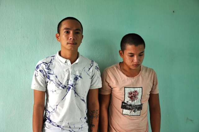 Hai anh em họ Phong và Đức khi bị bắt. Ảnh: X,M