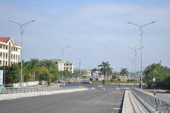 Đầu tuyến của dự án là nút giao với đường Hùng Vương. Ảnh: CT
