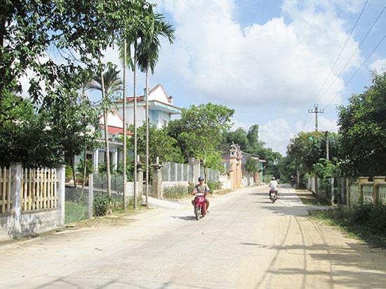 Diện mạo khu dân cư Đông Yên (xã Duy Trinh, huyện Duy Xuyên) hôm nay. Ảnh: H.N