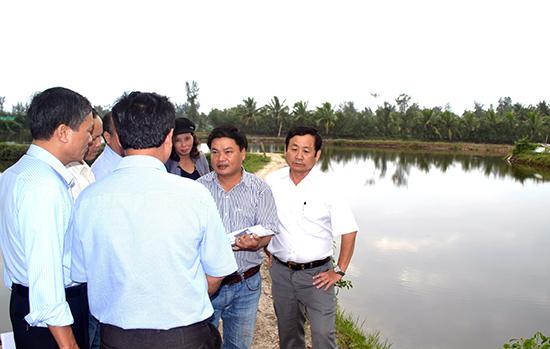 Huyện Núi Thành sẽ phải thu hẹp nhiều diện tích nuôi thủy sản. Ảnh: QUANG VIỆT