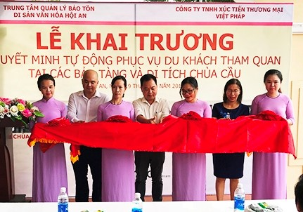 The opening ceremony of Audio guide in Hoi An