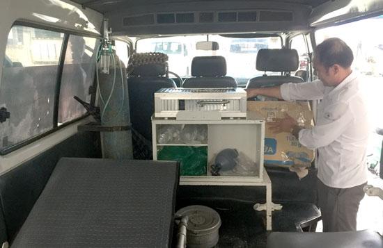 Cả Trung tâm cấp cứu 115 tỉnh nhưng chỉ có 1 máy giúp thở. Ảnh: QUÂN VINH