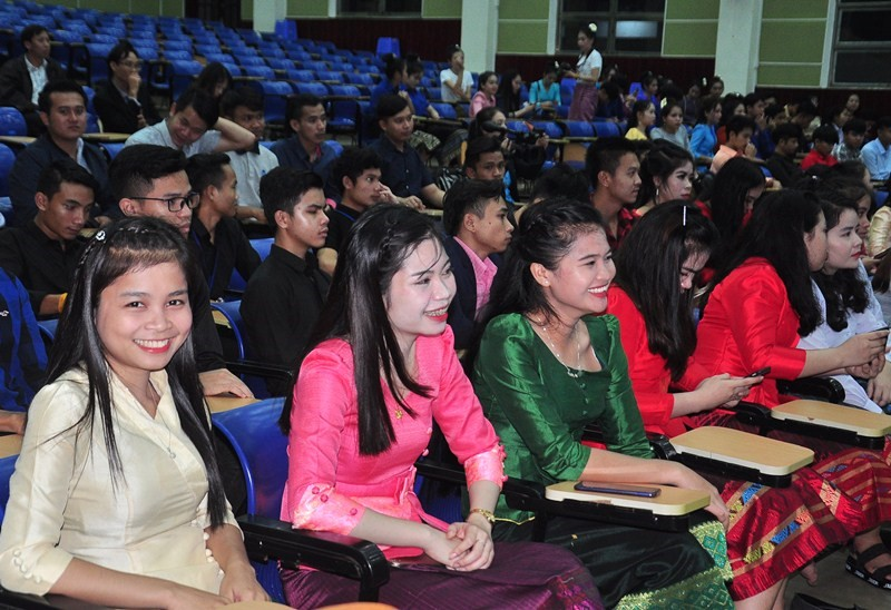 Lao students at the event.