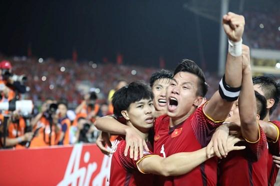 Niềm vui chiến thắng của đội Việt Nam.