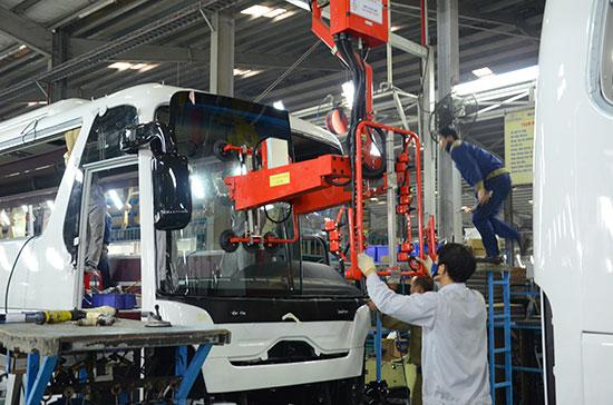 Xưởng sản xuất và lắp ráp ô tô của Trường Hải tại Chu Lai. Ảnh: M.ĐỨC