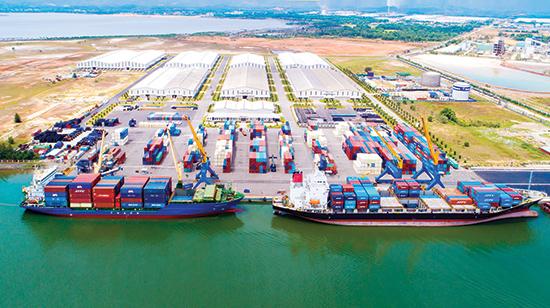Cảng Chu Lai - Trường Hải. Ảnh: HÀ NGUYỄN