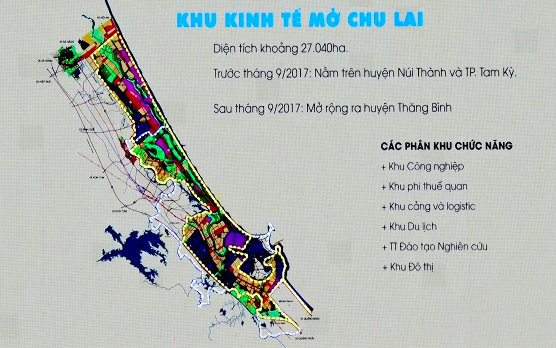 The planning map of the Chu Lai OEZ