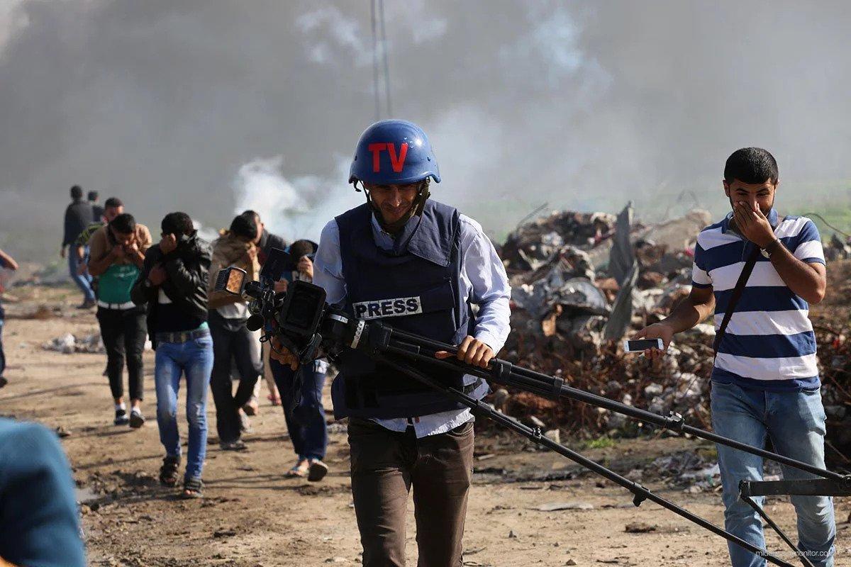 Những nhà báo đưa tin từ chiến trường. Ảnh: 112.international