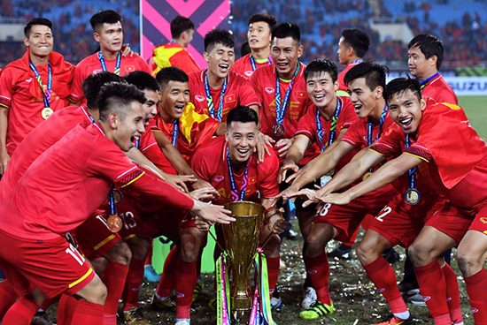 Đội tuyển Việt Nam hiện khá trẻ và hứa hẹn sẽ đi xa hơn nữa.Ảnh: Internet